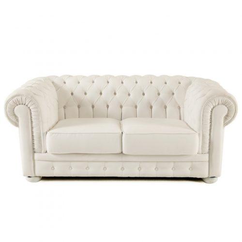 divano chesterfield bianco a noleggio milano e roma