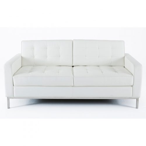 divano florence knoll bianco 2 posti xl rental design
