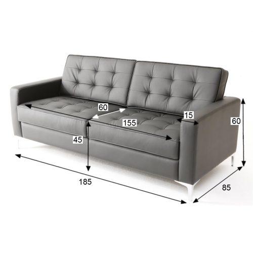 divano florence knoll nero 2 posti xl rental design misure