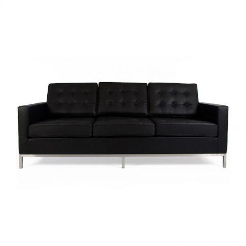 divano florence knoll nero noleggio milano rental design