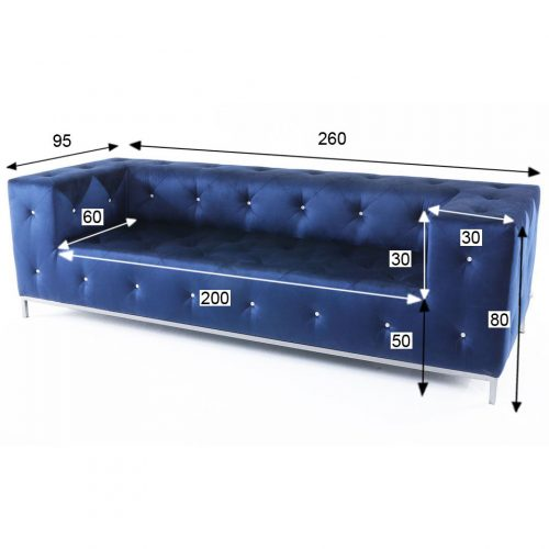 divano swarovski evita velluto blu a noleggio rental design misure