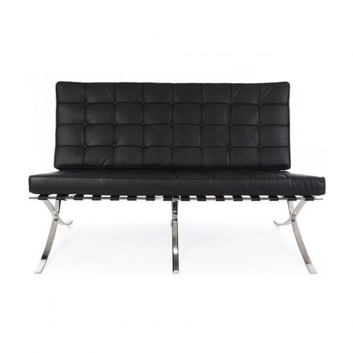 noleggio divano barcelona nero milano roma italia rental design