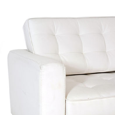 noleggio divano florence knoll bianco rental design dettaglio
