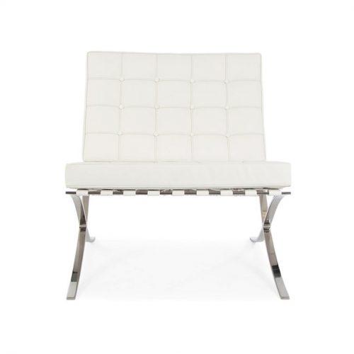 poltrona barcelona bianca a noleggio rental design