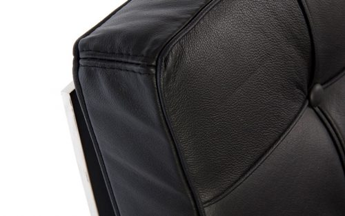 poltrona barcelona nera a noleggio rental design dettaglio