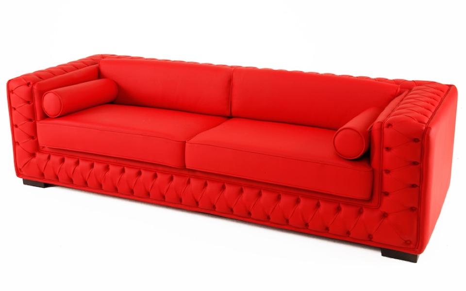 Divano Rosso Ecopelle : Divano chicago 3 posti rosso rental design
