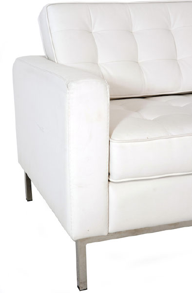 Divano florence knoll 3 posti bianco rental design - Divano florence knoll ...