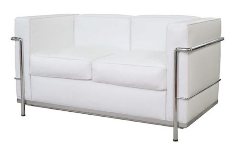 Divano Le Corbusier LC2 - 2 posti, Bianco - Rental Design