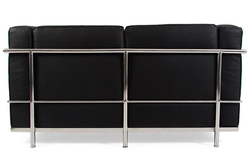 Divano Le Corbusier LC2 - 2 posti, Nero - Rental Design