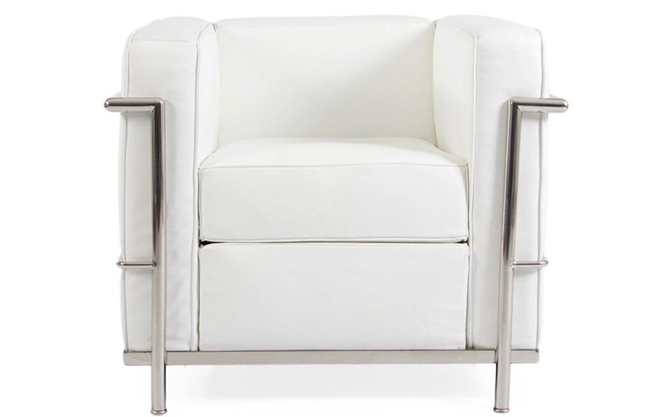Poltrona le corbusier lc2 bianca rental design for Poltrona lc2