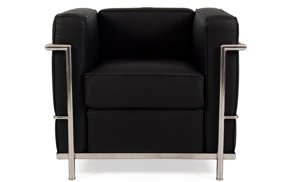 Poltrona Le Corbusier LC2 - Nera - Rental Design