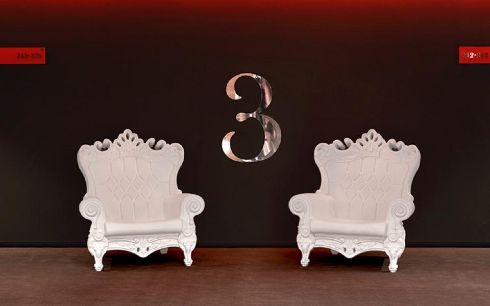 Poltrona Queen of Love di SLIDE - Bianca - Rental Design