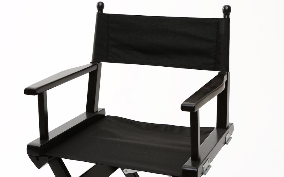 Sedia da regista alta nero rental design for Sedia design regista