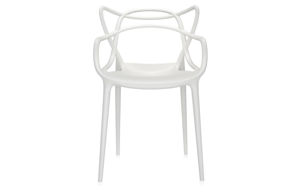 Sedia masters di kartell bianca rental design for Sedia design bianca