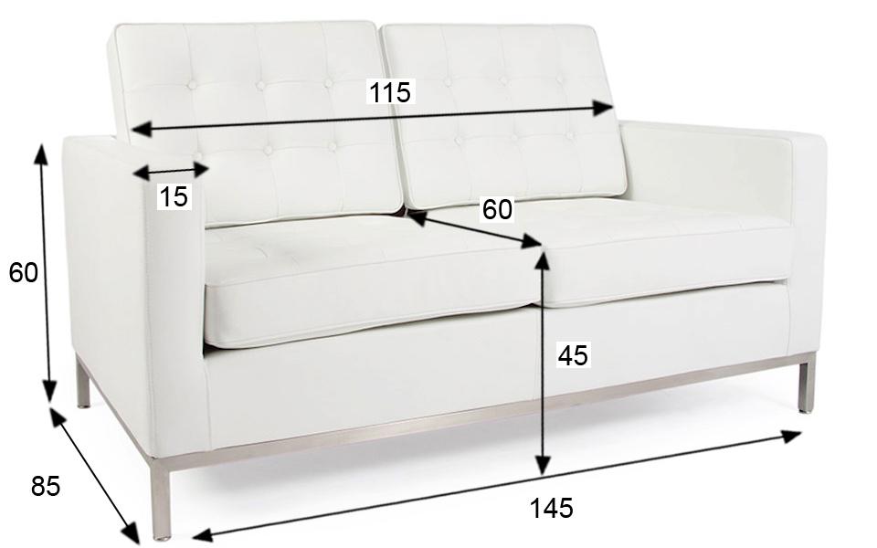 Divano florence knoll 2 posti bianco rental design - Divano florence knoll ...