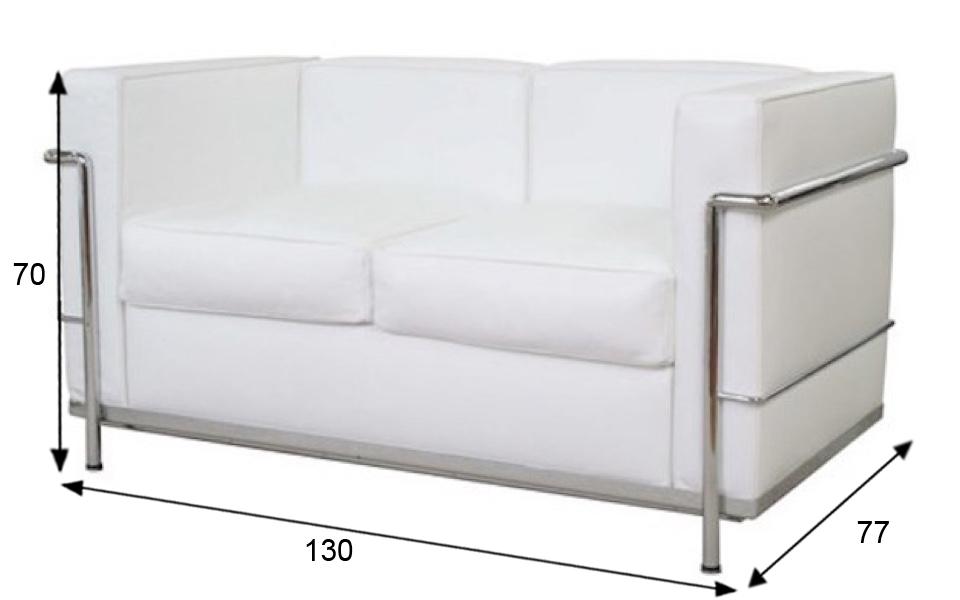 divano le corbusier lc2 2 posti bianco rental design. Black Bedroom Furniture Sets. Home Design Ideas