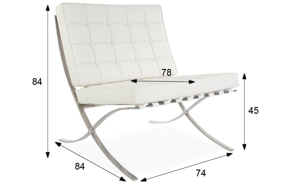 Poltrona barcelona bianca rental design for Poltrone design outlet online
