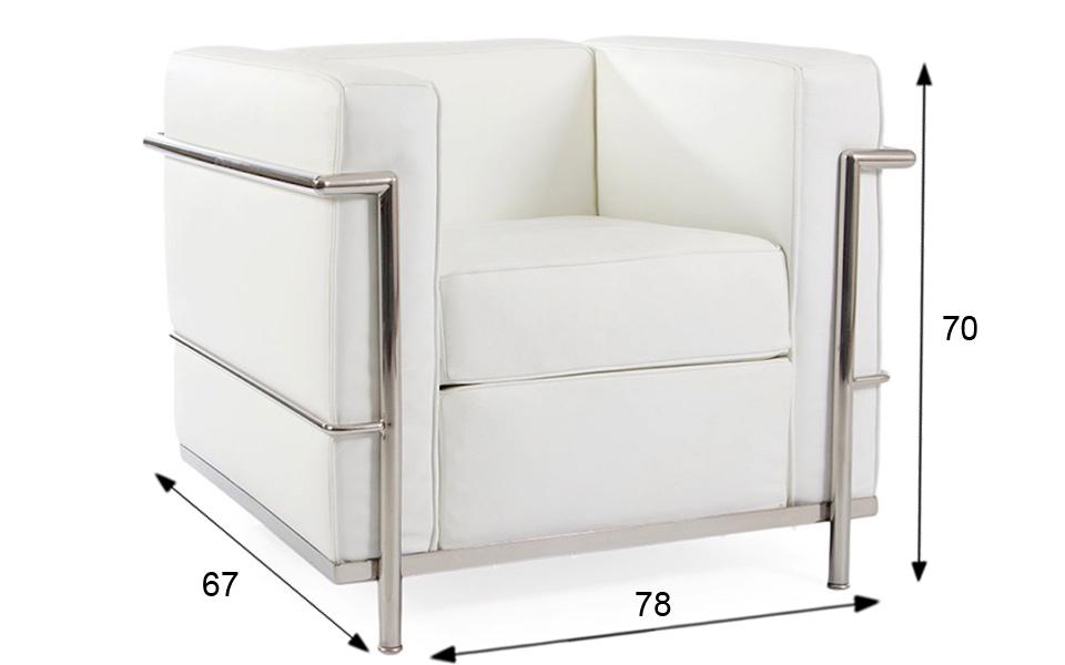 Poltrona Le Corbusier LC2 - Bianca - Rental Design