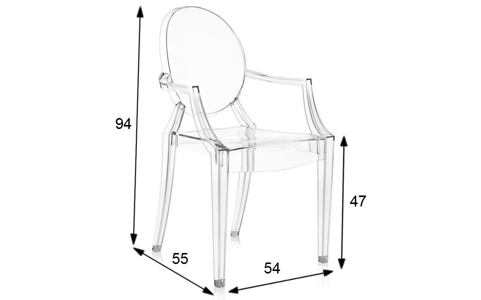 Sedia Louis Ghost di Kartell - Trasparente - Rental Design