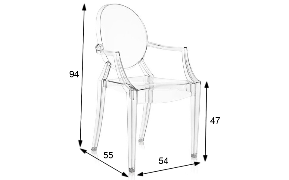 sedia ghost kartell dimensioni