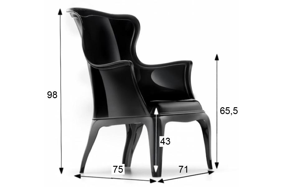 Sedia pascha di pedrali nera rental design for Sedia design nera