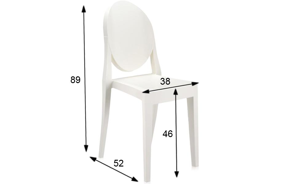 Sedia victoria ghost di kartell bianca rental design for Sedia design bianca