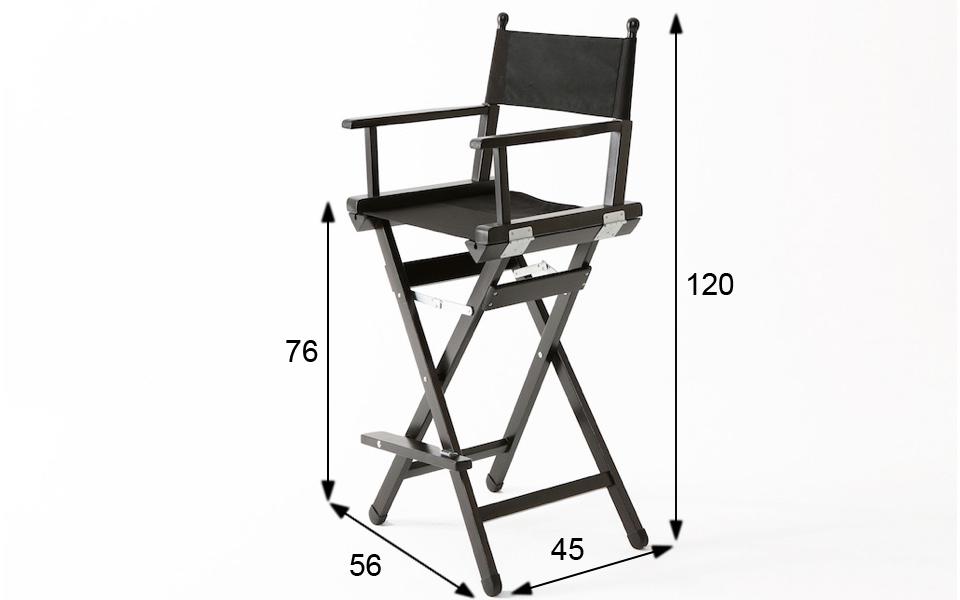 Sedia da regista alta nero rental design for Sedia da regista
