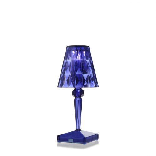 noleggio lampada da tavolo battery kartell blu trasparente - rental design 2