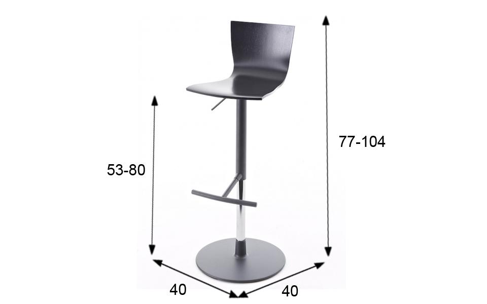 Colico Design Sgabelli.Sgabello Hip Ss Di Colico Design Nero Altezza Regolabile