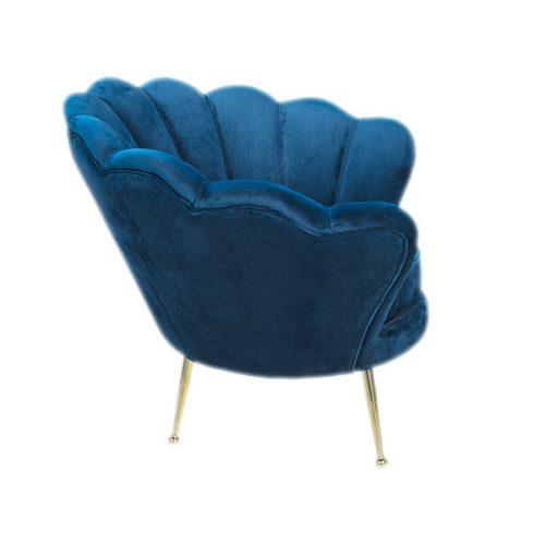 sedia poltrona blu vintage in velluto a noleggio rental design 2