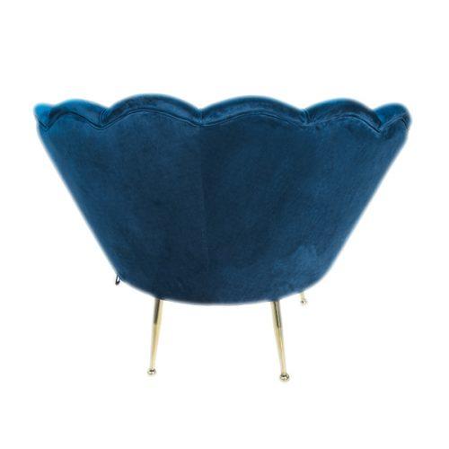 sedia poltrona blu vintage in velluto a noleggio rental design 3