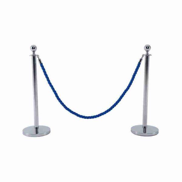 noleggio colonnina segnacorsia separacorsia elegante blu per eventi rental design