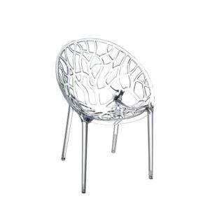 noleggio sedia crystal by siesta trasparente per eventi rental design