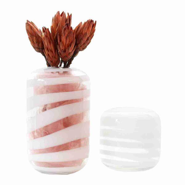 noleggio vasi: vaso bianco trasparente infinity 2 dimensioni rental design