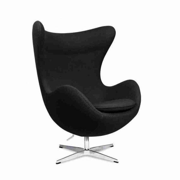 poltrona egg chair nera a noleggio rental design - obliqual