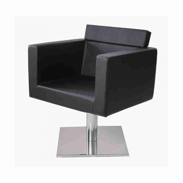 poltrona a noleggio modern nera quadrata rental design