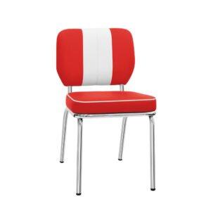 noleggio sedia vintage america anni 50 diner bianca-rossa rental design