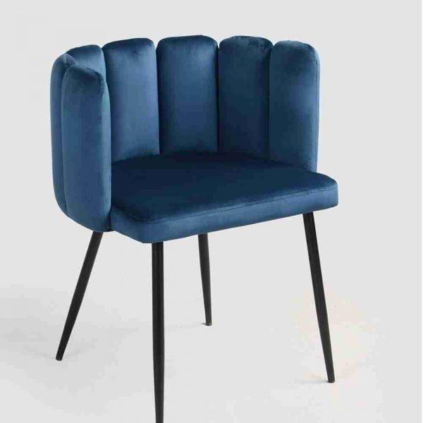 sedia-poltroncina evening in velluto blu a noleggio rental design