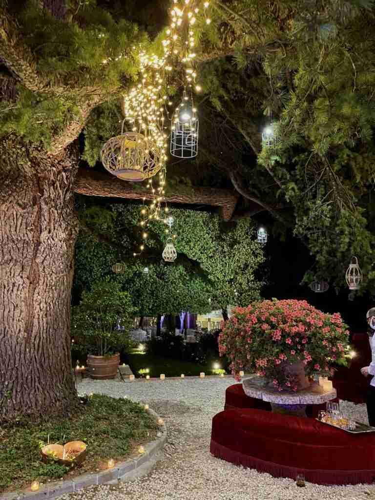 noleggio arredi lanterne luci piante e allestimento arredi evento lancio outdoor STM Hats @Villa a Sesta Polo Club - Rental Design 3