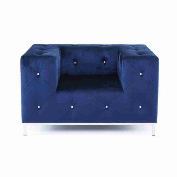 poltrona svarowski blu seta evita a noleggio