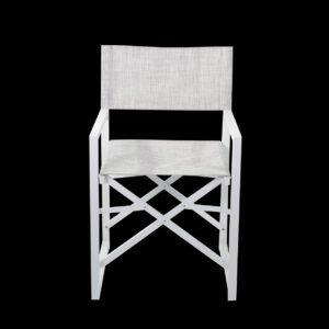 sedia regista bianca a noleggio da rental design